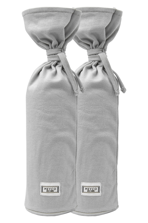 Kruikenzak Basic Jersey 2-Pack - Lichtgrijs - 13xh35cm
