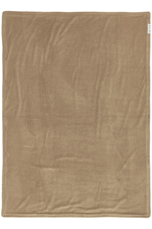 Wiegdeken Velvet Cheetah - Taupe - 75x100cm