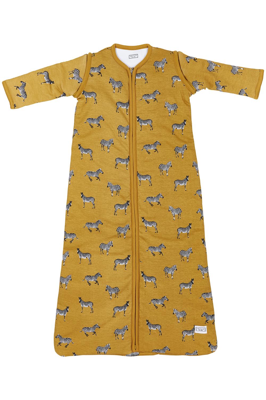 Babyslaapzak Afritsbare Mouw Gevoerd Zebra Animal - Honey Gold - 70cm