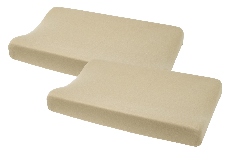 Aankleedkussenhoes Basic Jersey 2-pack - Sand - 50x70cm