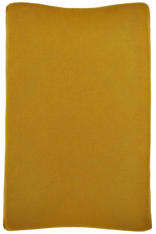 Aankleedkussenhoes Knit Basic - Okergeel - 50x70cm