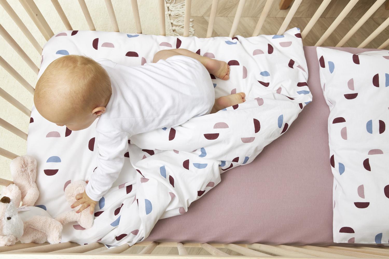 Bettdeckenbezug + Kissenbezug Shapes - Lilac - 120x150cm