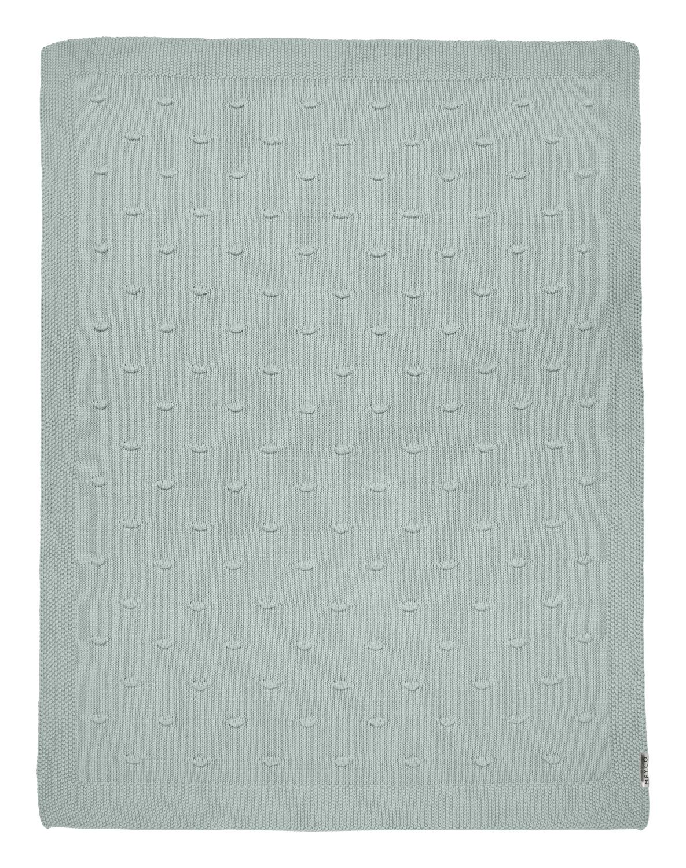Wiegdeken Knots - Stone Green - 75x100cm