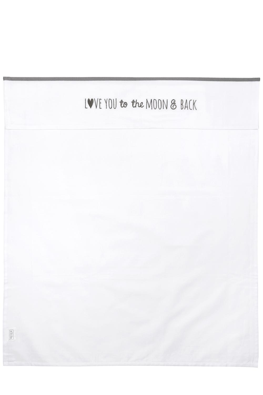 Wieglaken Love you to the moon & back - Grijs - 75x100cm