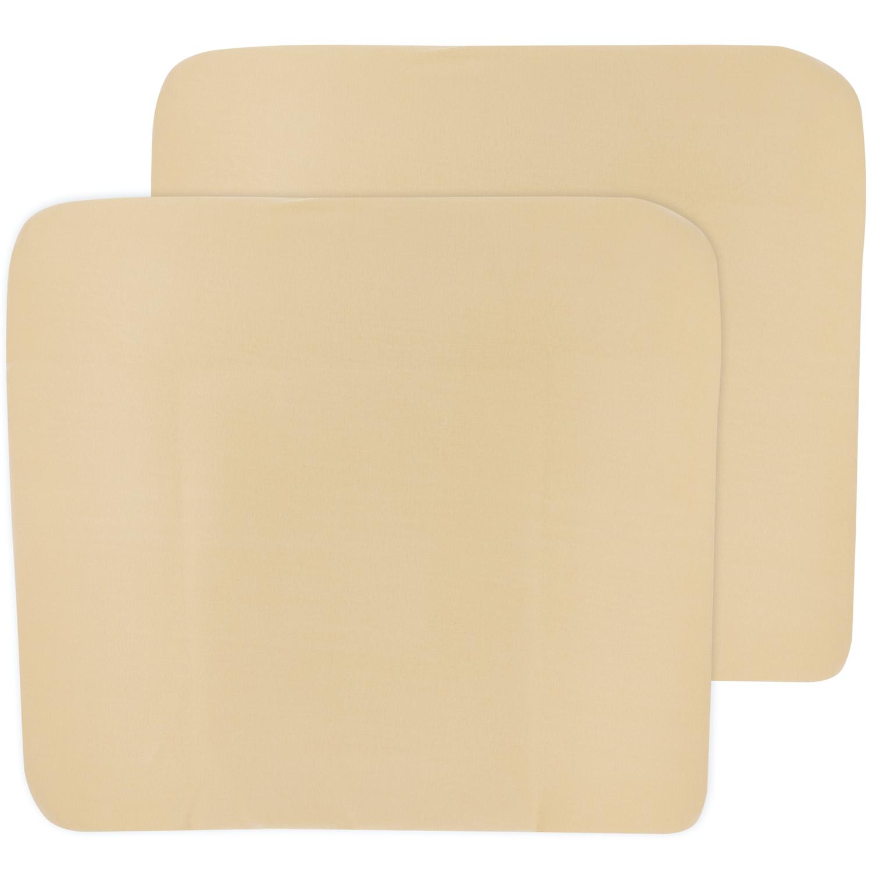 Aankleedkussenhoes 3K 2-pack Basic Jersey - Warm Sand - 85x75cm