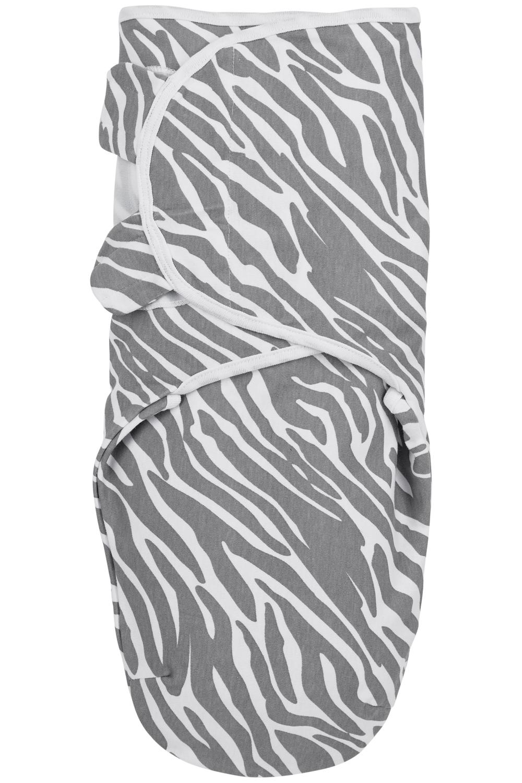 Swaddlemeyco Zebra - Grijs - 0-3 Maand