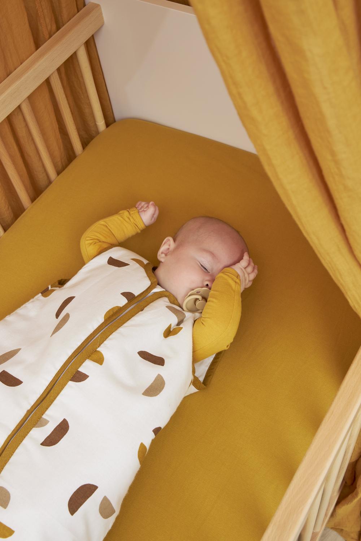 Babyslaapzak Gevoerd Shapes - Honey Gold - 70cm