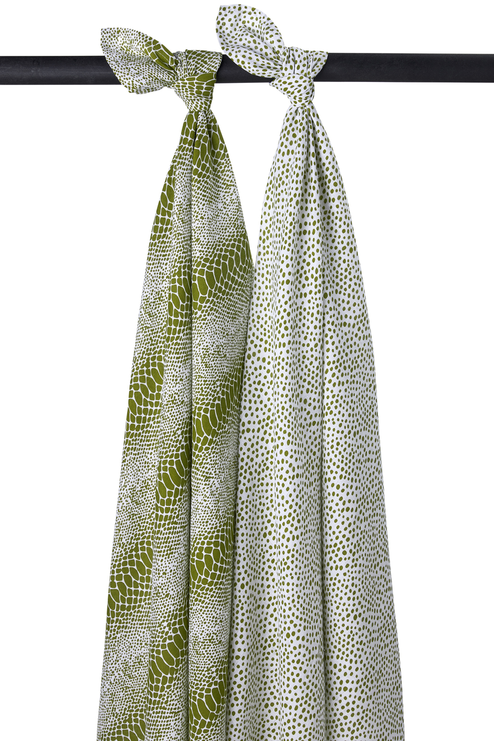 Hydrofiele Swaddles 2-Pack Snake/Cheetah - Avocado - 120x120cm