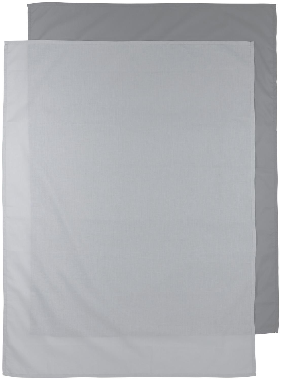Bettlaken groß 2-Pack Uni - Grau/Hellgrau - 100x150cm