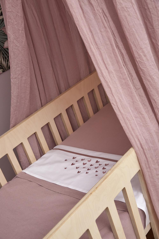Wiegdeken Knit Basic - Lilac - 75x100cm