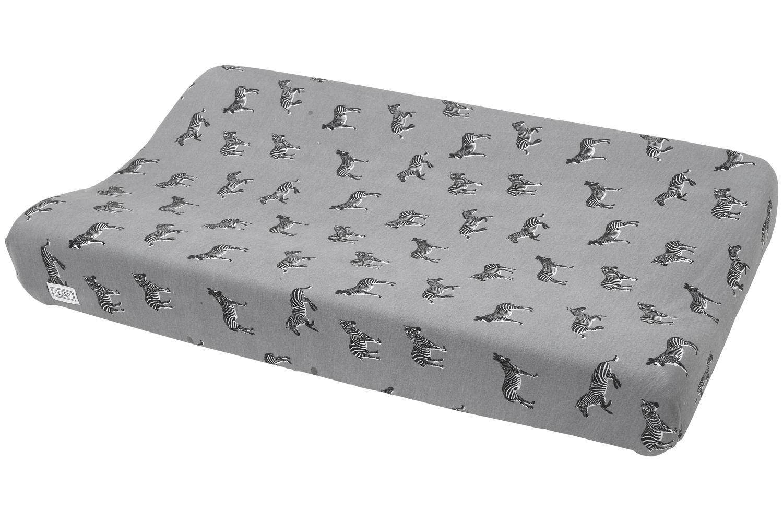 Wickelauflagenbezug Zebra Animal - Grau - 50x70cm