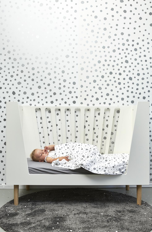 Dekbedovertrek + Kussensloop Dots - Grijs - 120x150cm