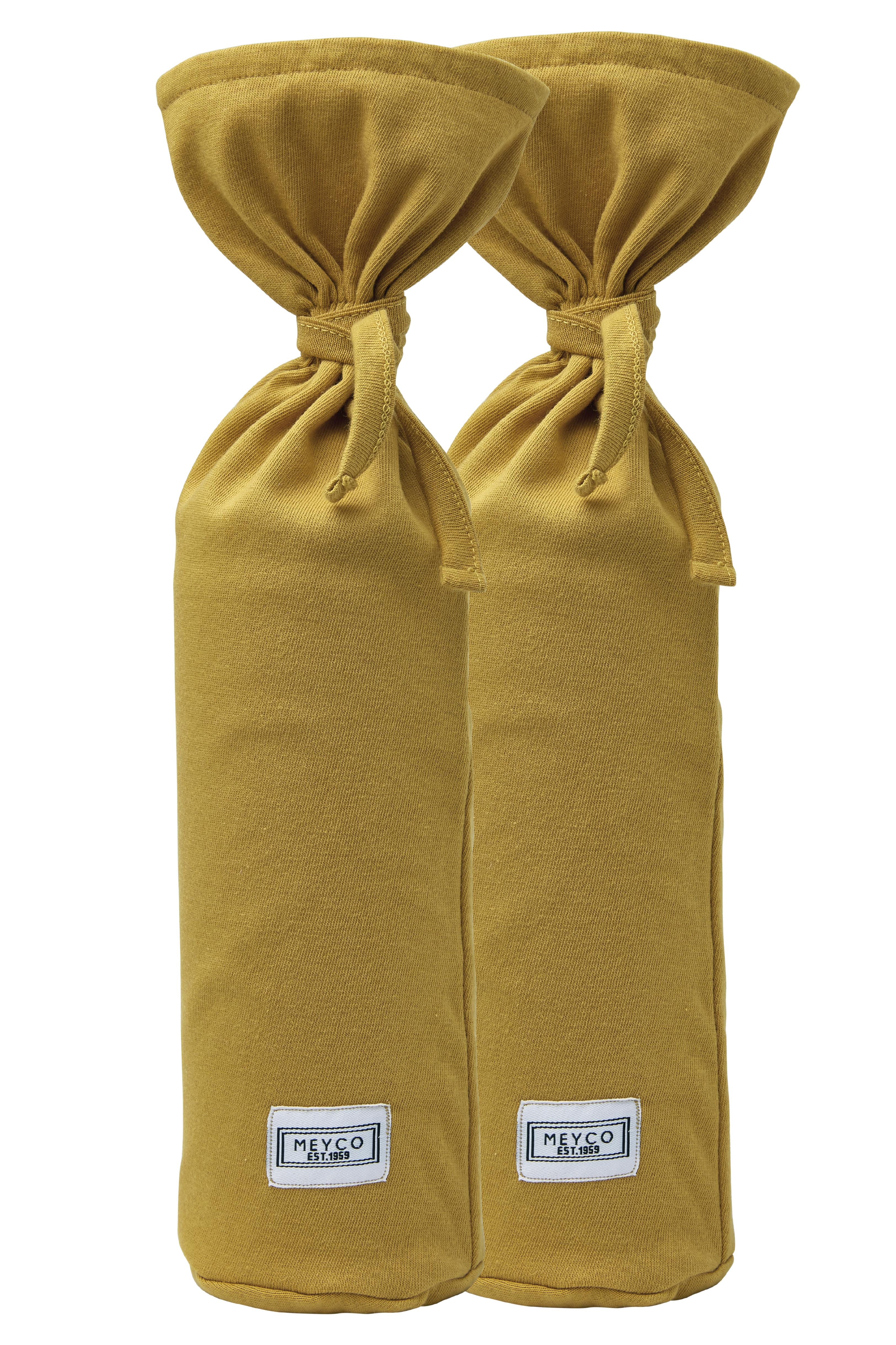 Kruikenzak 2-Pack Basic Jersey - Honey Gold - 13xh35cm