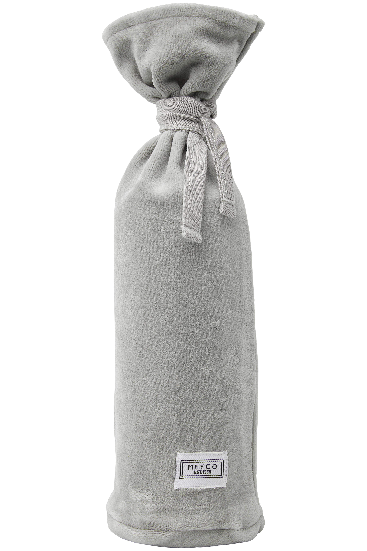 Wärmflaschenbezug Velvet - Hellgrau - 13xh35cm
