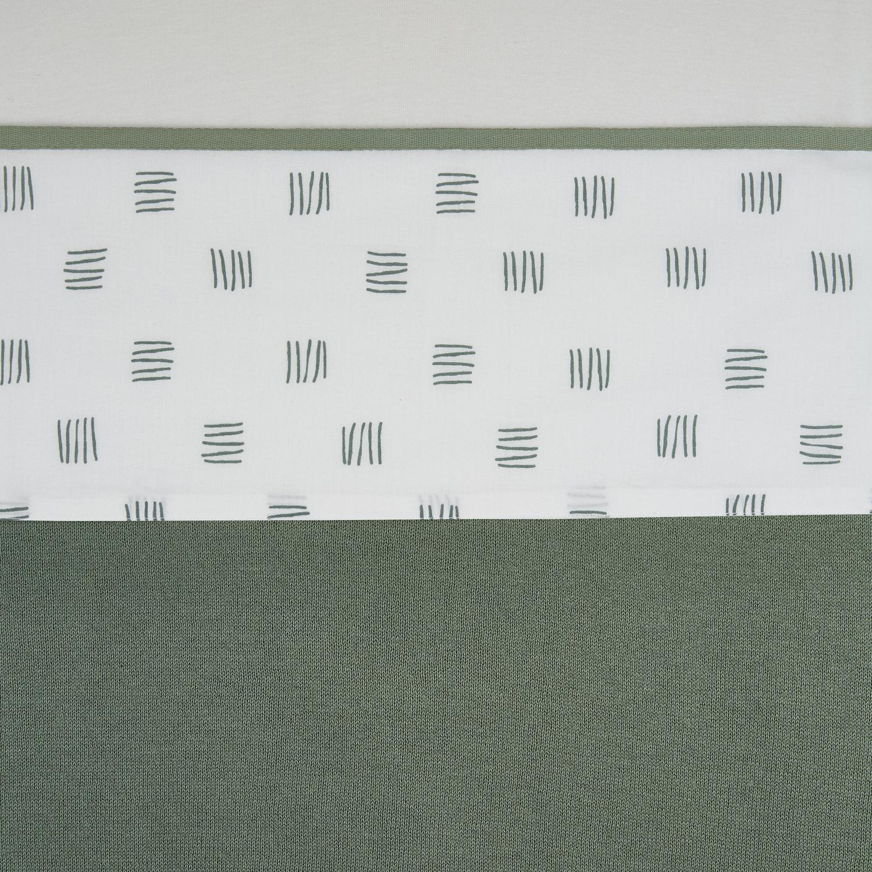 Wieglaken Block Stripe - Forest Green - 75x100cm