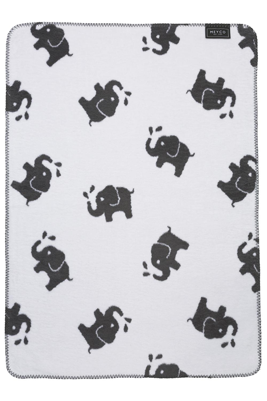 Biologische wiegdeken Elephant - Grijs - 75x100cm