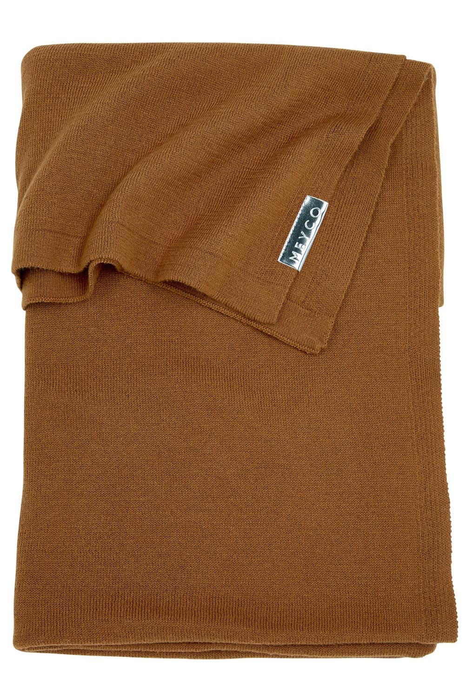 Ledikantdeken Knit Basic - Camel - 100x150cm