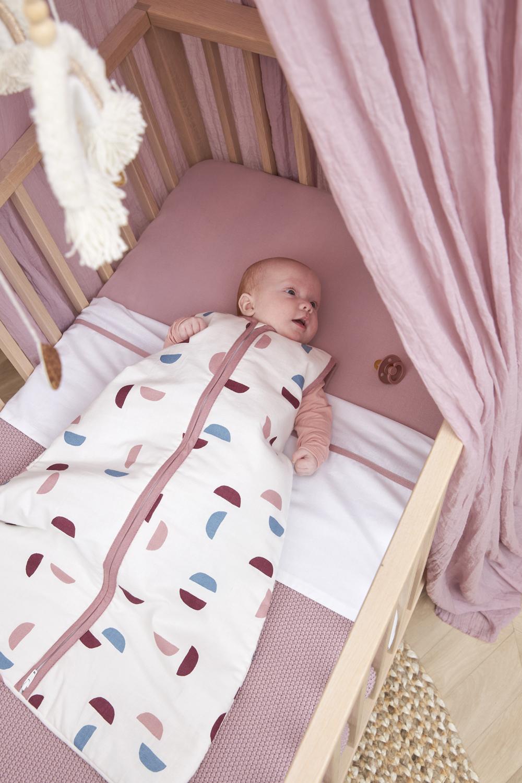 Babyslaapzak Gevoerd Shapes - Lilac - 90cm