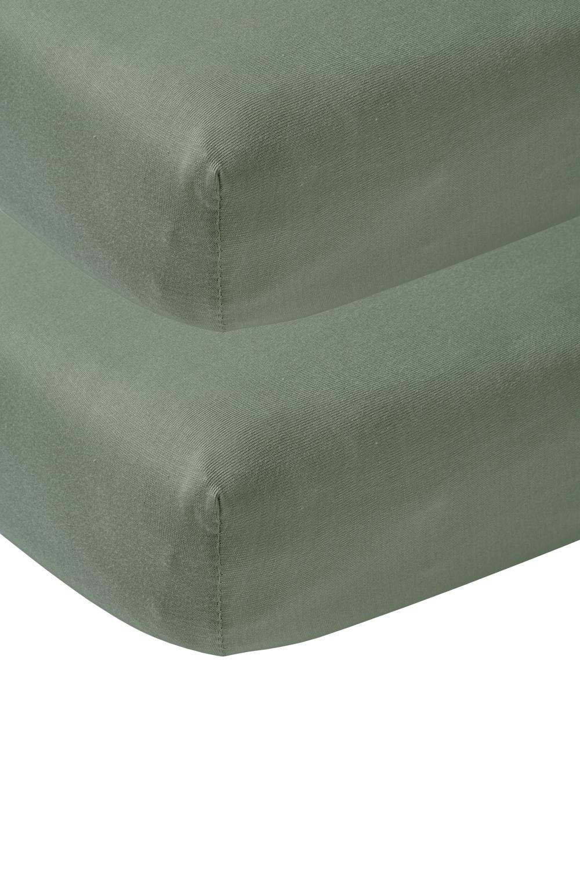 Jersey Hoeslaken 2-Pack - Forest Green - 60x120cm