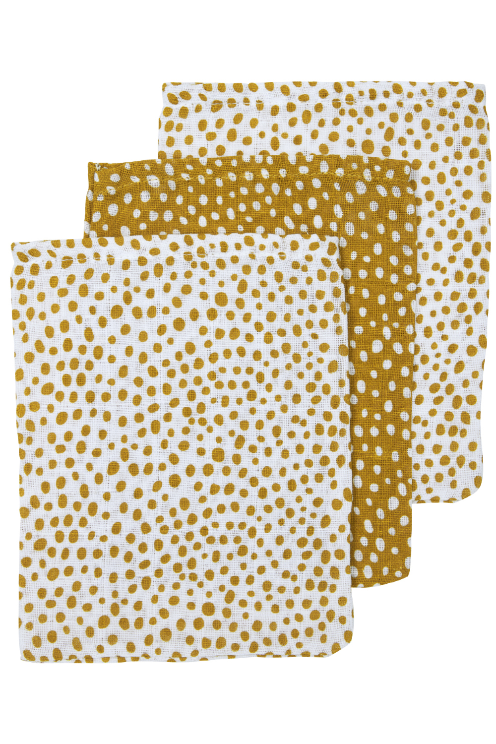 Hydrofiele Washandjes 3-Pack Cheetah - Honey Gold - 20x17cm