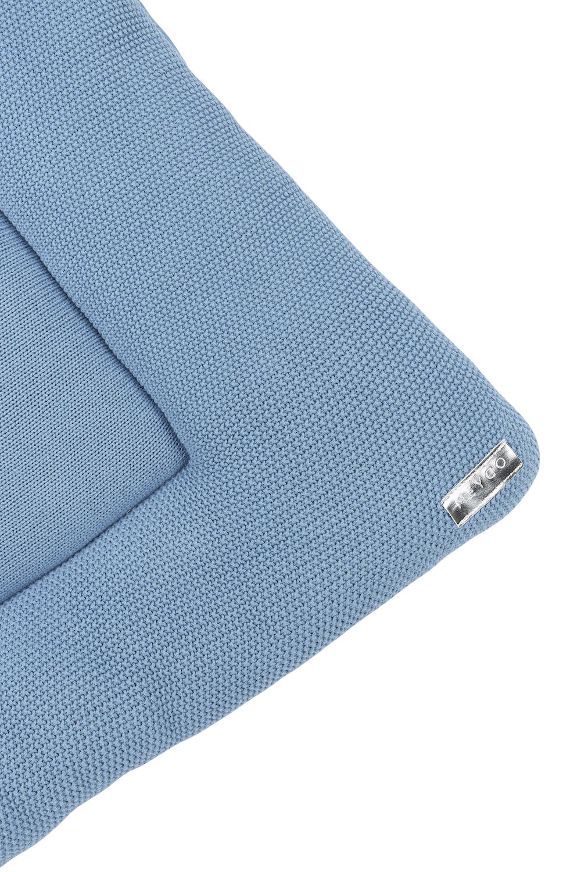 Biologisch Boxkleed Mini Relief - Denim - 95x75cm