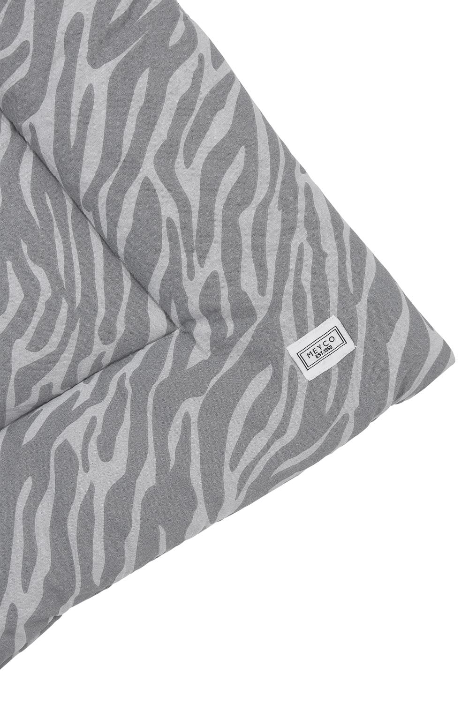 Boxkleed Zebra - Grijs - 80x100cm