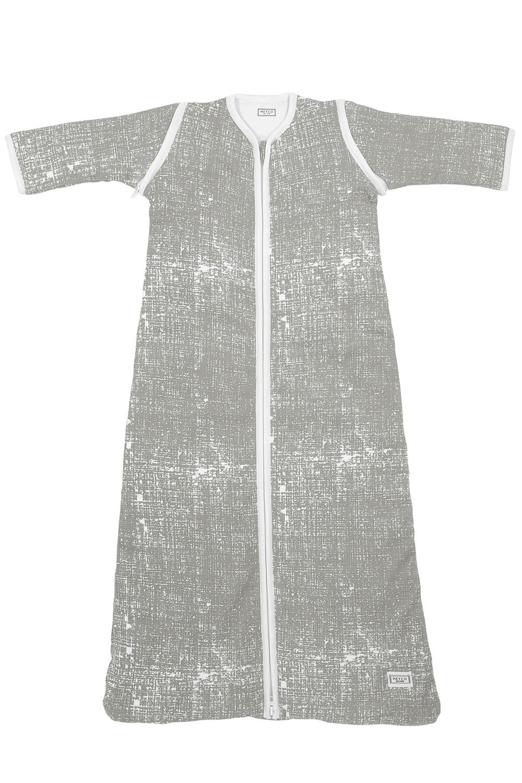 Lined Sleeping Bag Detachable Sleeve Fine Lines - Light Grey - 110cm