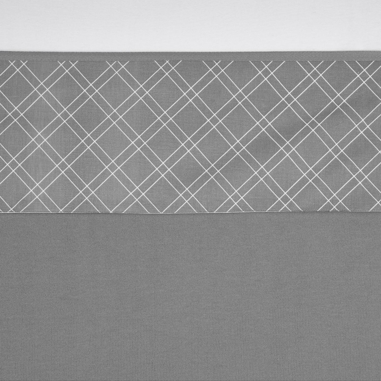 Wieglaken Double Diamond - Grijs - 75x100cm