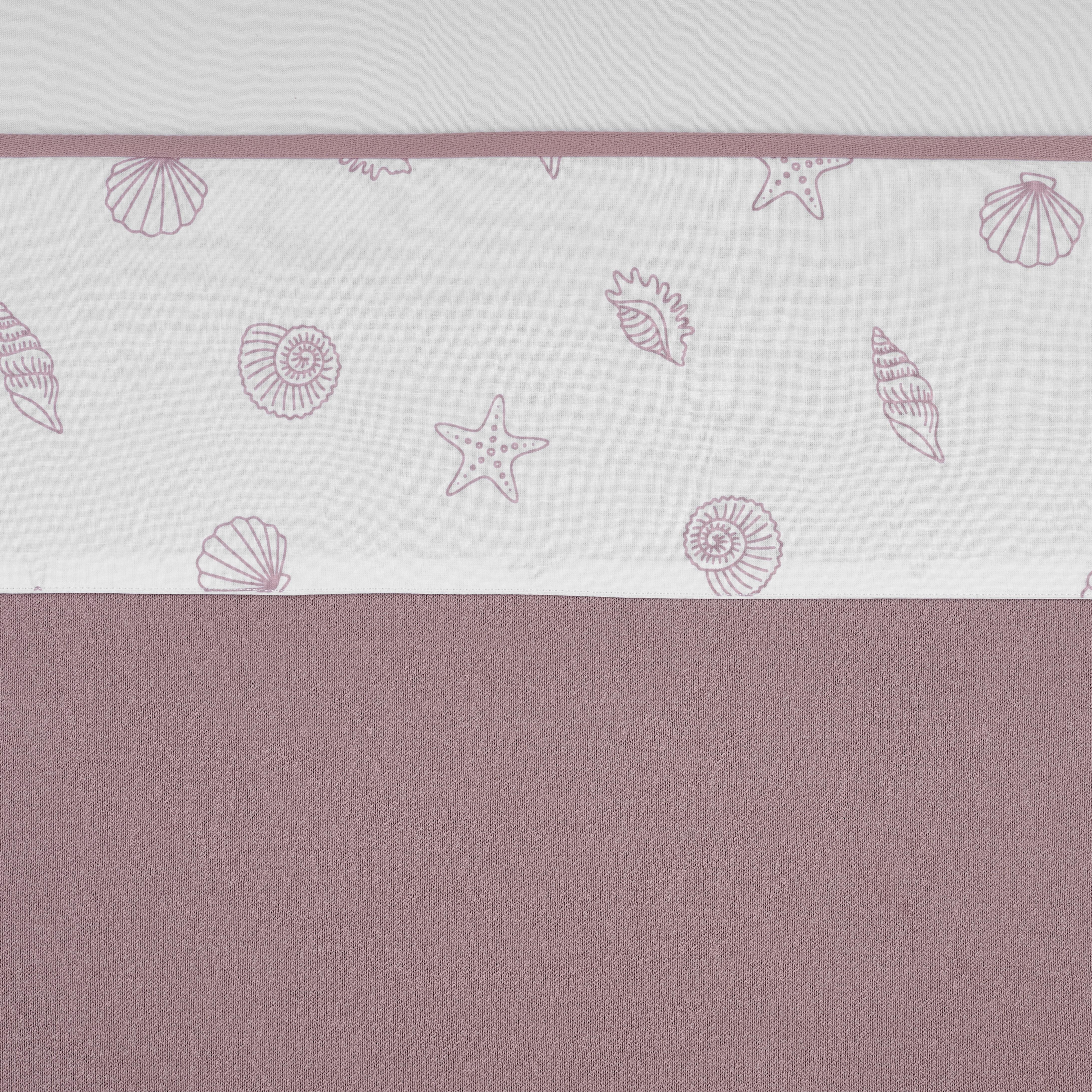 Bettlaken klein Shells - Lilac - 75x100cm