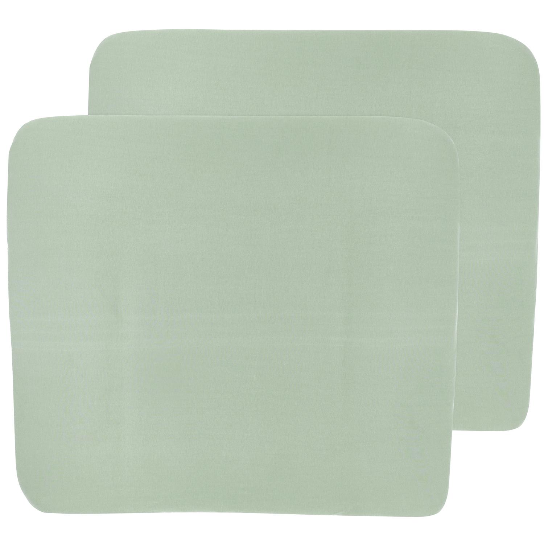 Aankleedkussenhoes 3K 2-pack Basic Jersey - Stone Green - 85x75cm