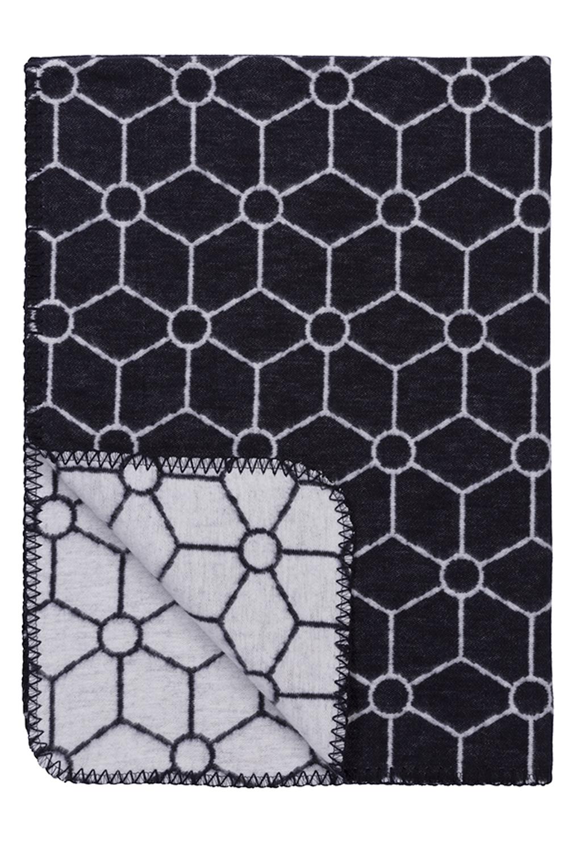 Biologische Flanel Ledikantdeken Honeycomb - Jeans - 120x150cm