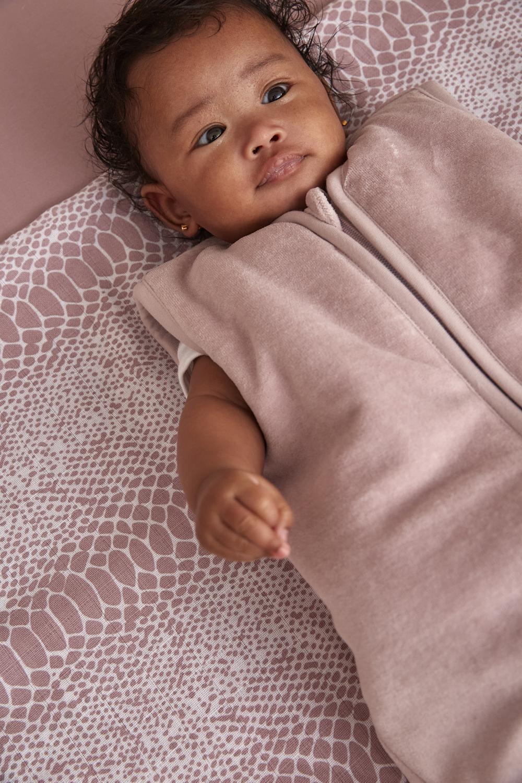 Babyslaapzak gevoerd Velvet - Lilac - 70cm