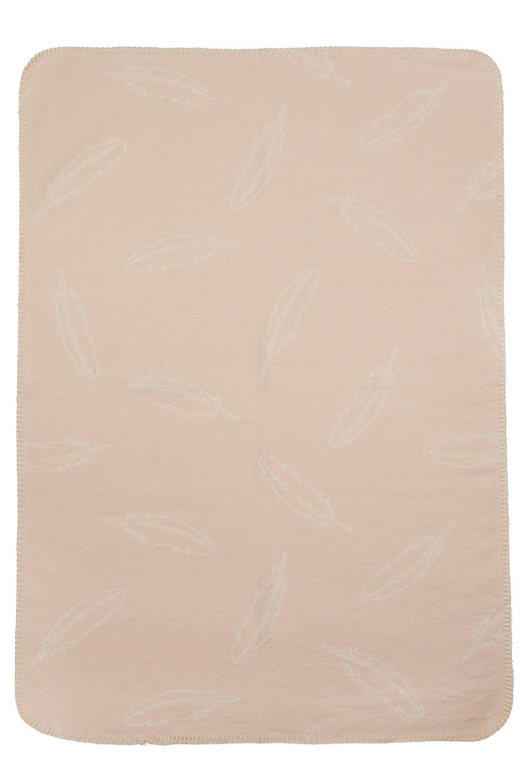 Wiegdeken Flanel Feathers - Peach - 75x100cm
