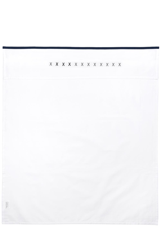 Wieglaken XXX - Marineblauw/Grijs - 75x100cm
