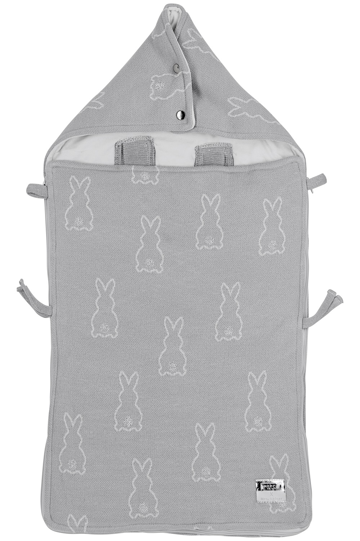 Meyco X Mrs. Keizer Fußsack Rabbit - Silver