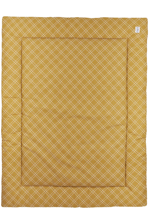 Boxkleed Double Diamond - Honey Gold - 80x100cm