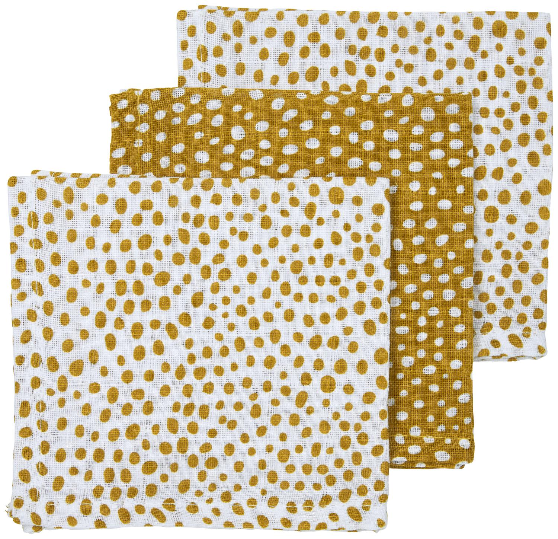 Musselin Spucktücher 3-pack Cheetah - Honey Gold - 30x30cm