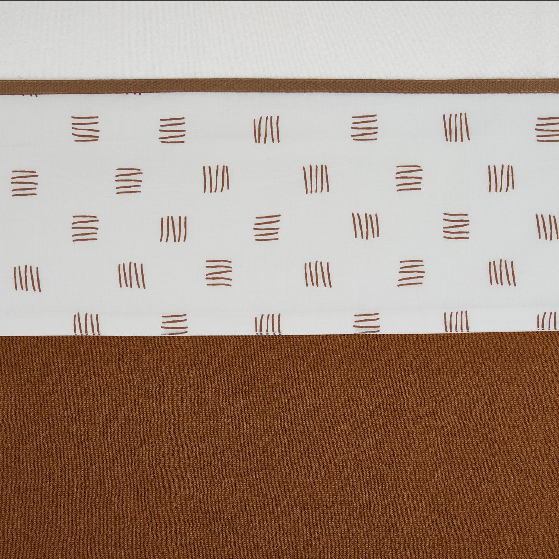 Wieglaken Block Stripe - Camel - 75x100cm