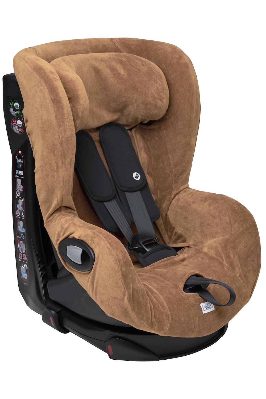 Car Seat Cover Velvet - Warm Sand - Group 1 With Headrest