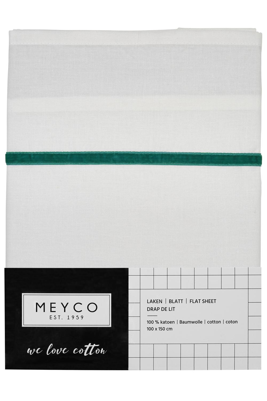 Wieglaken Bies Velvet - Emerald Green - 75x100cm