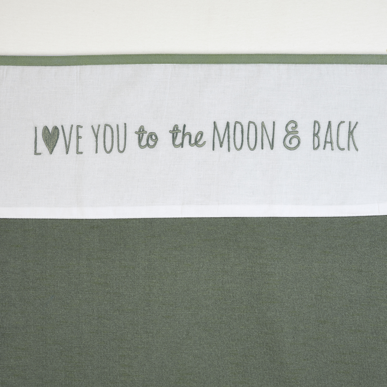 Ledikantlaken Love You To The Moon & Back - Forest Green - 100x150cm