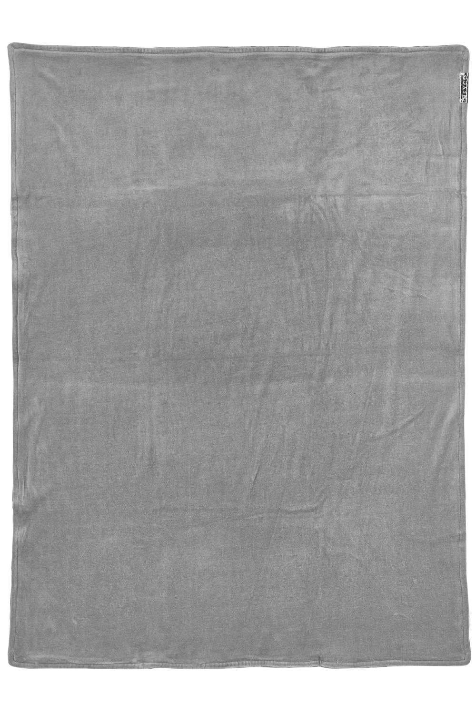 Ledikantdeken Velvet Zebra - Grijs - 100x150cm