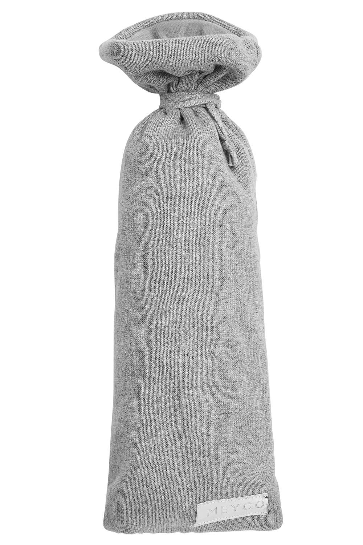 Kruikenzak Knit Basic - Grijs Melange - 13xh35cm