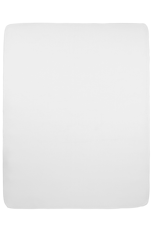 Jersey Hoeslaken Boxmatras - Wit - 75x95cm