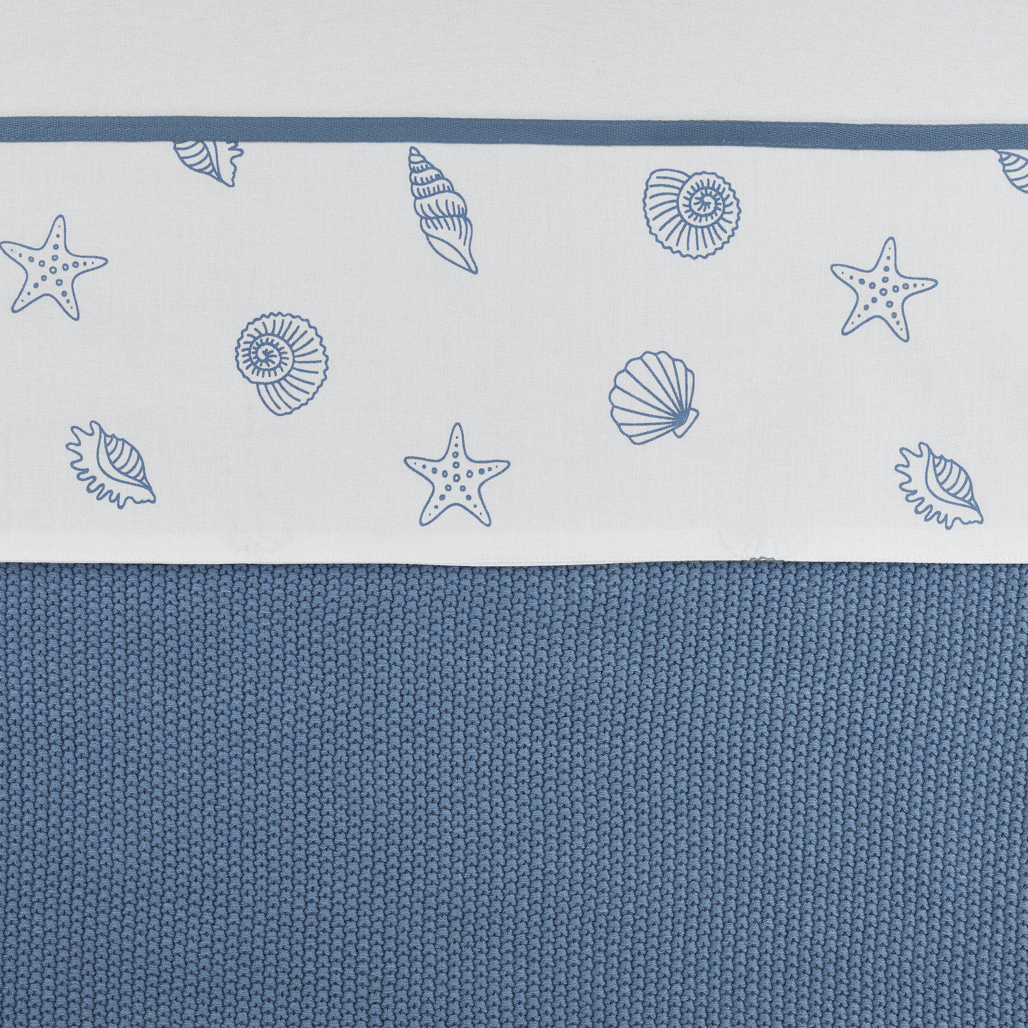 Bettlaken groß Shells - Denim - 100x150cm