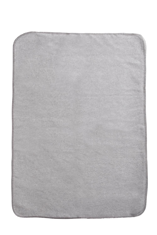 Wiegdeken Uni - Grijs Melange - 75x100cm