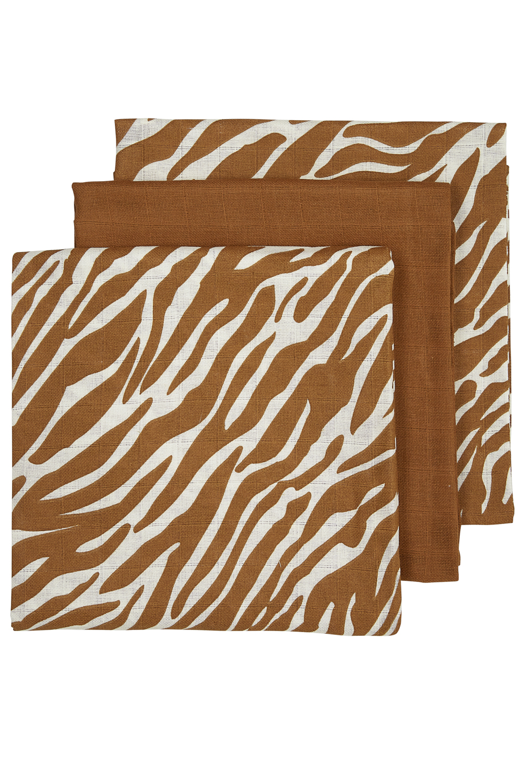 Hydrofiele Luiers 3-Pack Zebra - Zebra/Camel/Zebra - 70x70cm