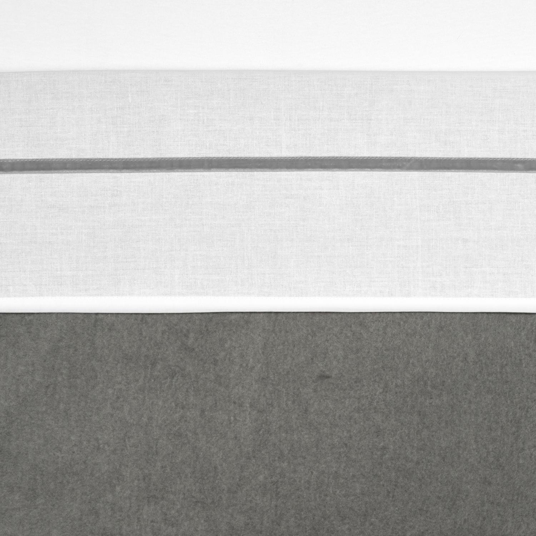 Bettlaken klein Bies Velvet - Grau - 75x100cm