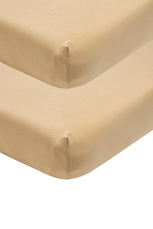 Jersey SpannBettlaken 2-pack - Warm Sand - 60x120cm