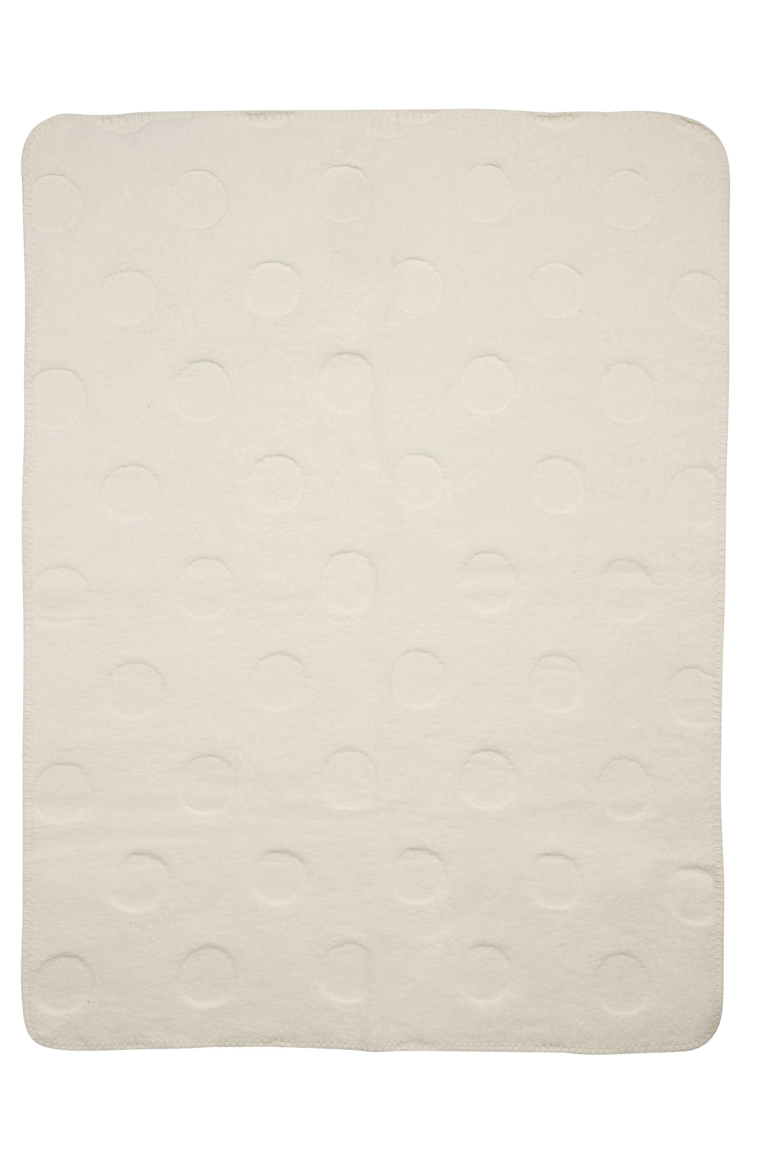 Biologische Ledikantdeken Stip 3-D - Offwhite - 120x150cm